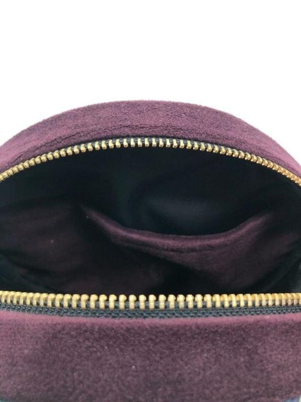 Oceanum Azure Round Velvet Bag Inside Pocket Azure