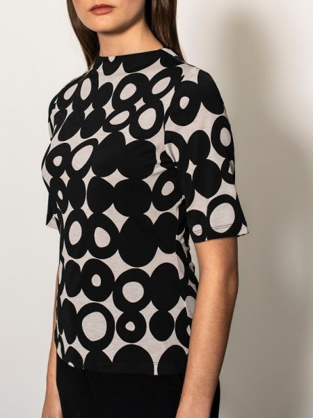 polka dot top South Africa Grey and Black