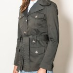 Smudj Peggy Safari Utility Jacket Forest Green