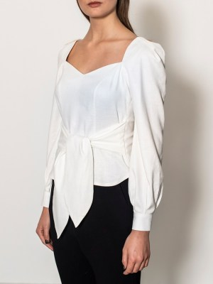 linen blouse South Africa Ivory