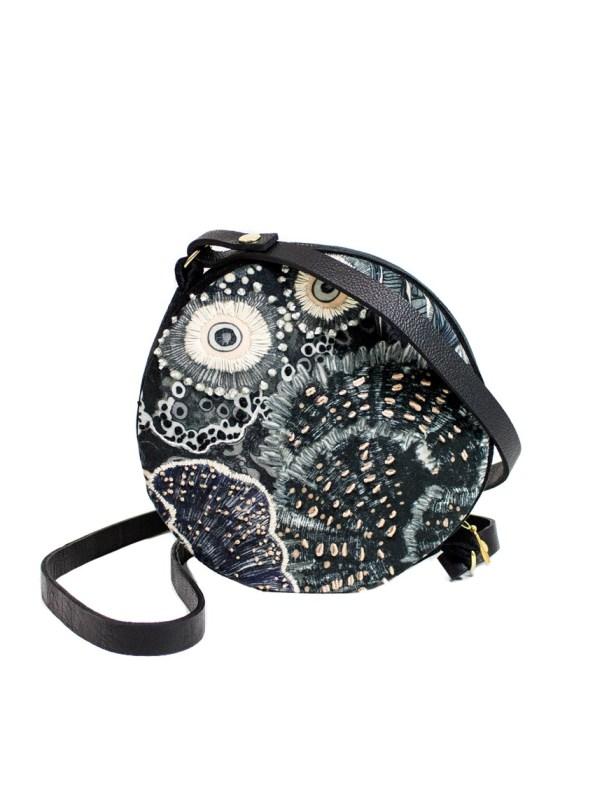 Wanderland Round Crossbody Bag Velvet Urchin Embroidered