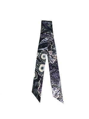 Thin twilly ribbon scarf for handbag handle