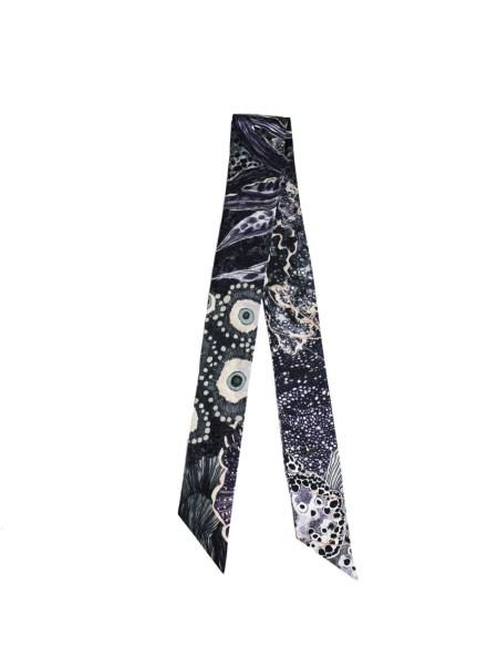 Thin twilly ribbon scarf for handbag handle