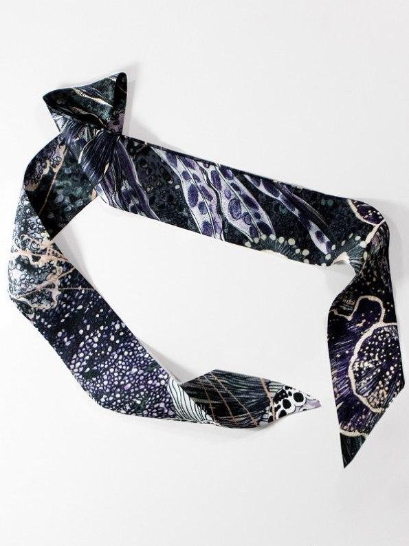 Wonderland Collective Oceanum Silk Twilly Scarf for Handbag Urchin