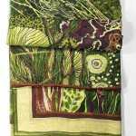 Aureum Oceanum Moss Green Silk and Modal Scarf