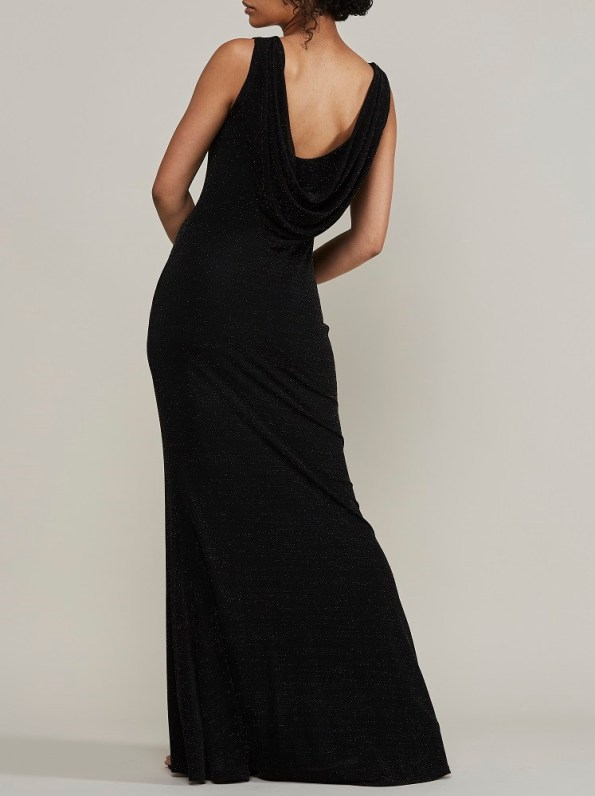 Mareth Colleen Blaire Sparkle Low Back Evening Dress