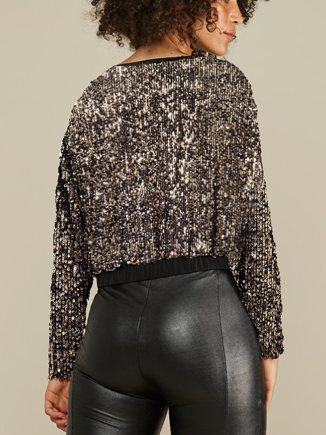 Mareth Colleen Blink Sequin Jacket Back