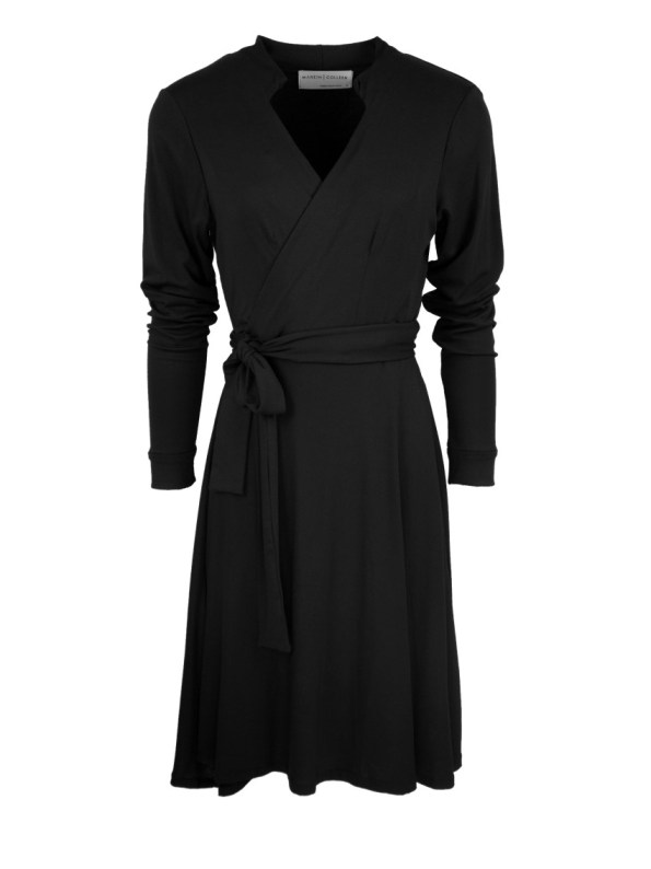 Mareth Colleen Hentry Wrap Dress Black