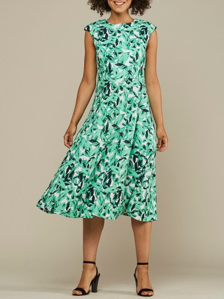 Summer dress green leaf print South Africa