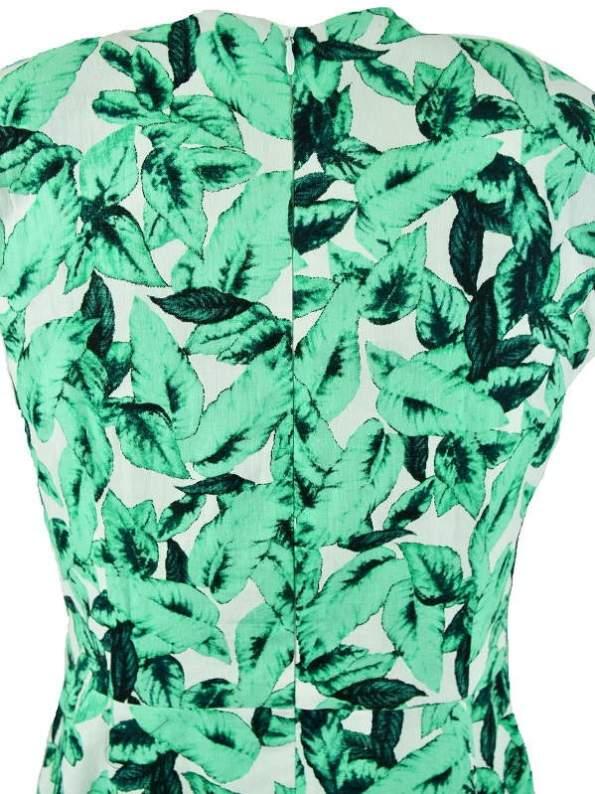 Mareth Colleen Jan Summer Dress Basil Print Zip