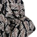 Mareth Colleen Nina Cotton Dress Leaf Print
