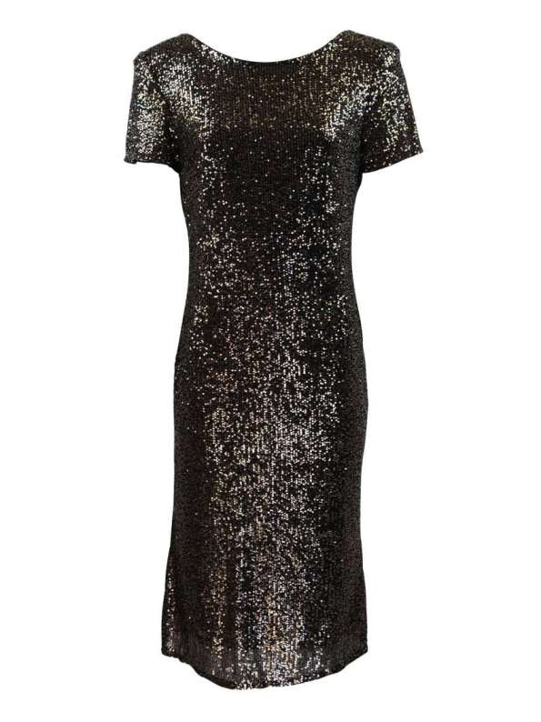 Mareth Colleen Sequin Dress Gold and Silver