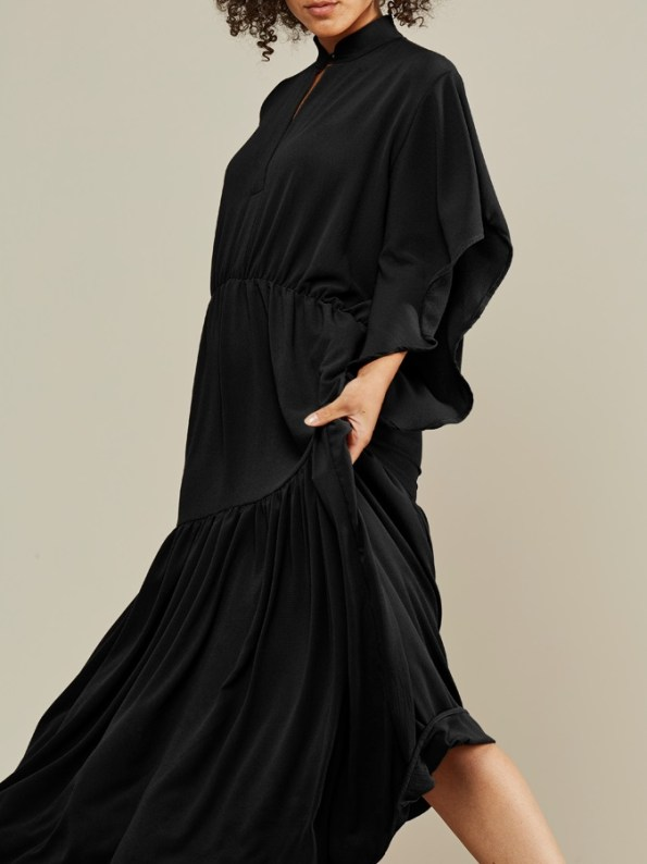 Mareth Colleen Tristan Maxi Dress Black Side