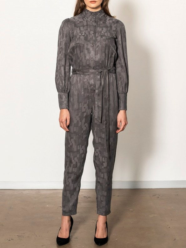 Smudj Aaron Utility Jumpsuit Slate Camo Front