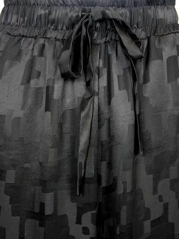 Smudj Silky Track Pants Black Camo Detail