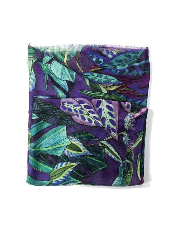 Wanderland Collective Aureum Tanglewood Silk Scarf Folded
