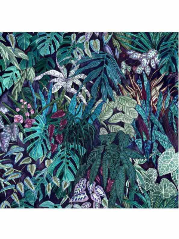 Wanderland Collective Aureum Tanglewood botanical Silk Scarf