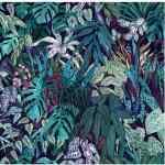 Purple botanical print silk scarf South Africa