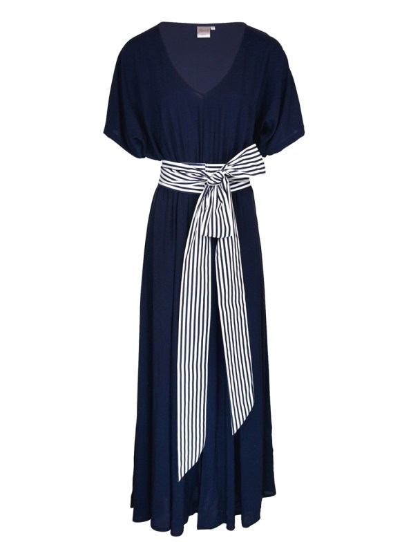 JMVB Bordeaux Maxi Dress Navy