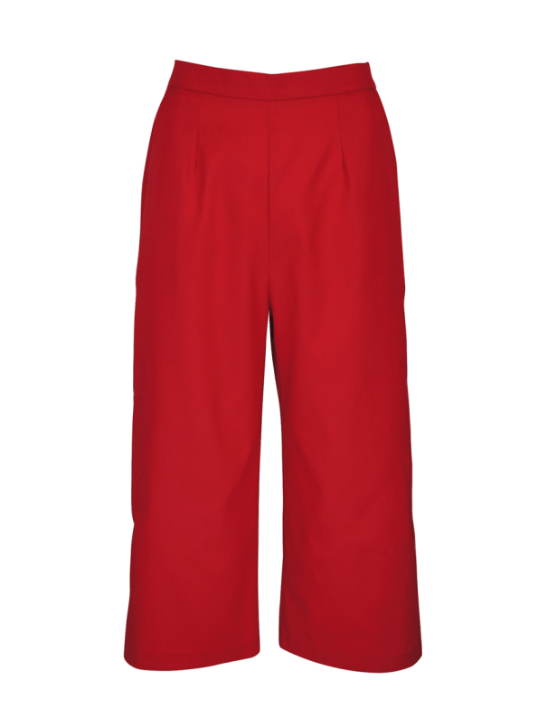 JMVB Cotton Twil Culottes Red