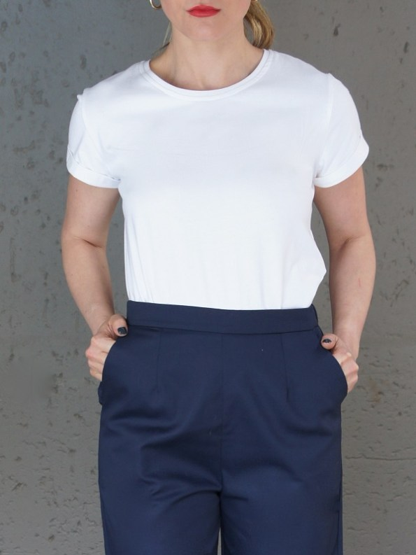 JMVB Jimmy D White T-shirt Sleeve Cropped