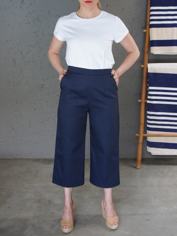 JMVB Jimmy D White T-shirt with Navy Culottes Front