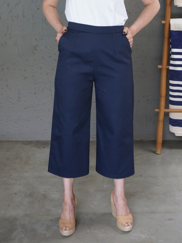 JMVB Navy Culottes Cropped
