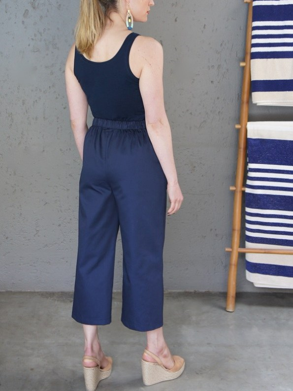 JMVB Navy Tank Top with Navy Culottes Back