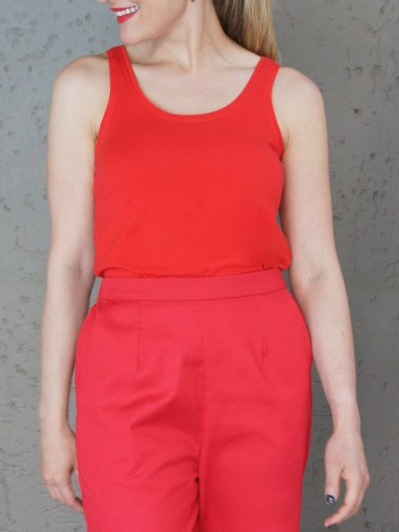 Red stretch tank top vest for women South Africa