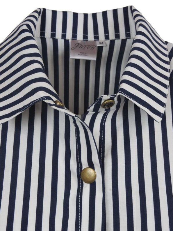 JMVB Striped Boyfriend Shirt Details