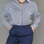 JMVB Striped Boyfriend Shirt