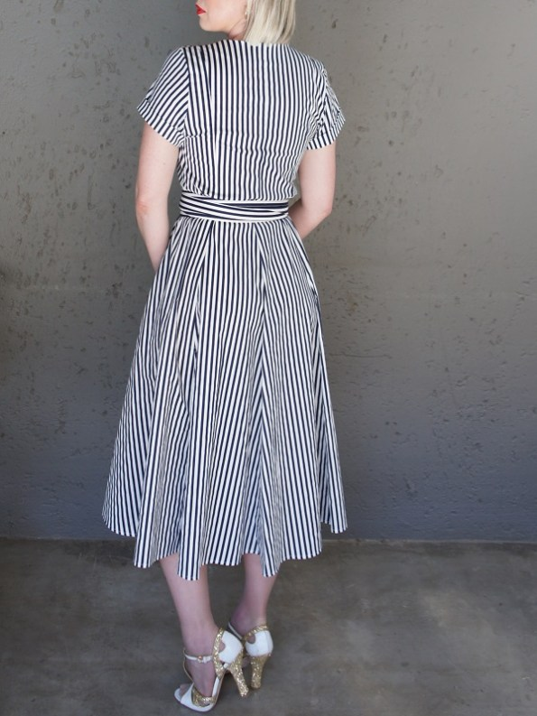 JMVB Striped Dress Back