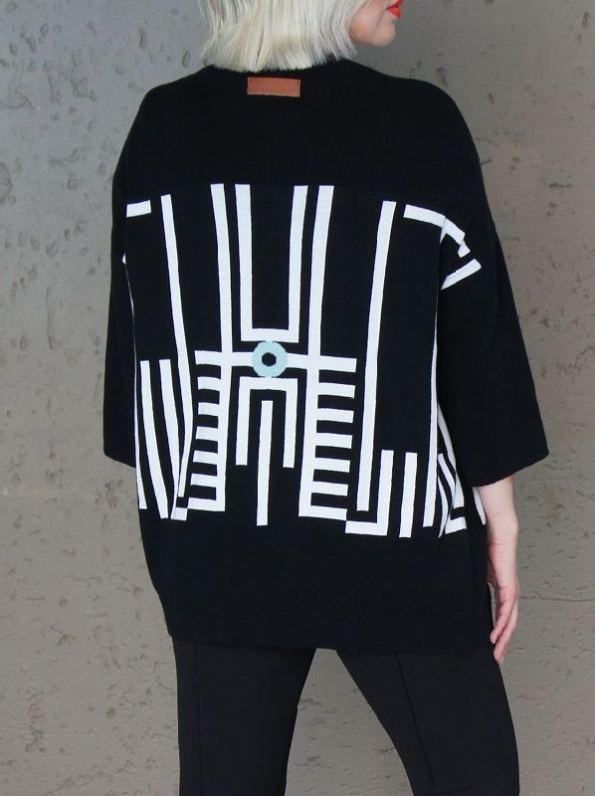 Romaira Pacgirl Knitted Jacket Back