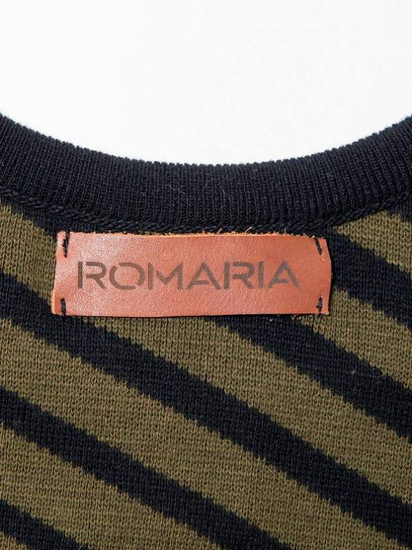 Romaria Olive Tank Top Back Label