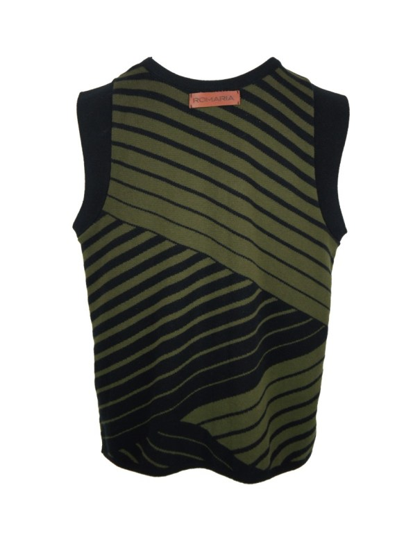 Romaria Olive Tank Top Back