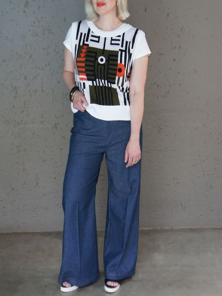 Sweeater vest with high waisted jeans South Africa