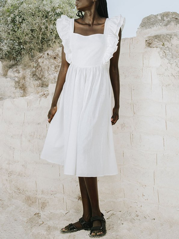 Asha Eleven Pambo Dress Off-white Front