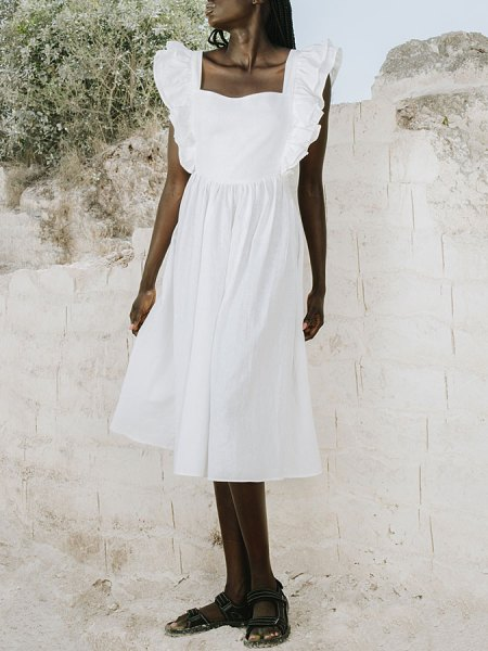 White linen cotton hemp Dress South Africa
