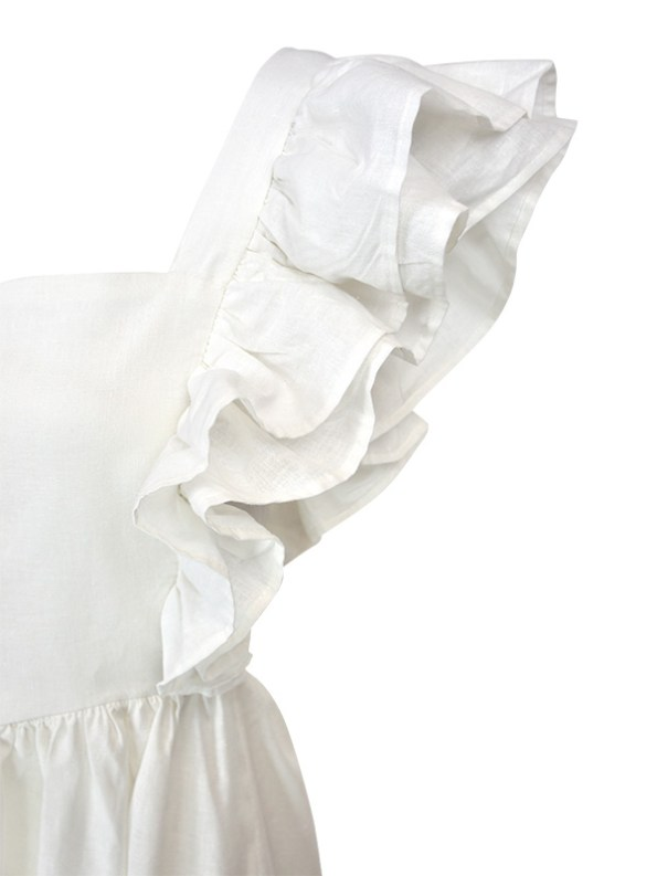 Asha Eleven Pambo Dress Off-white Shoulder Ruffle