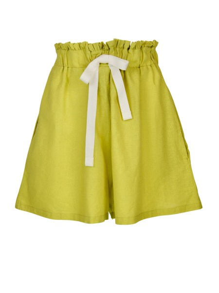 neon green hemp linen ladies shorts South Africa