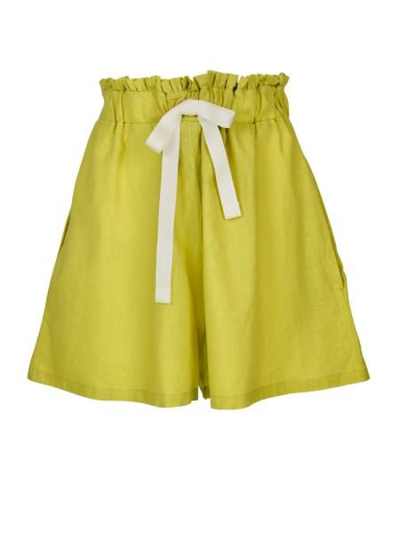 neon green hemp linen ladies shorts South Africa