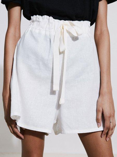 White hemp linen short South Africa