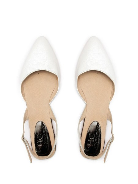 White Leather Slingback Pointy Shoes South Africa