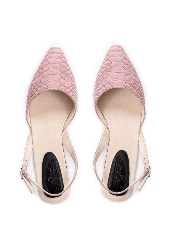 House of Cinnamon Nicole Slingback Blush Pink Pair