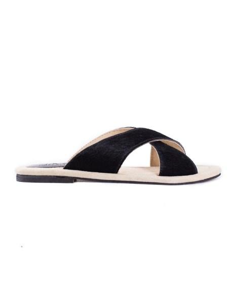 black crisscross womens sandal calf hair South Africa