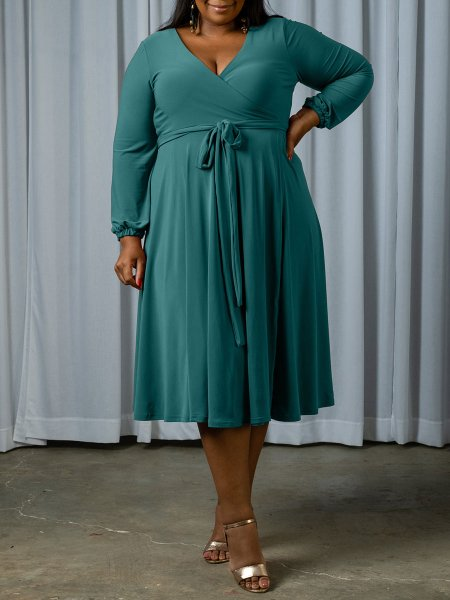seafoam green midi length wrap dress South Africa