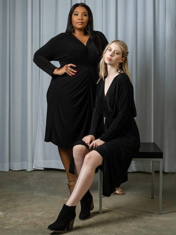 IDV Twist Dress Black