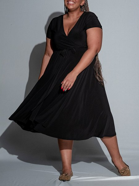 black plus size wrap dress South Africa
