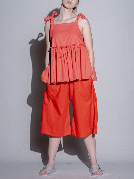 orange linen culottes South Africa