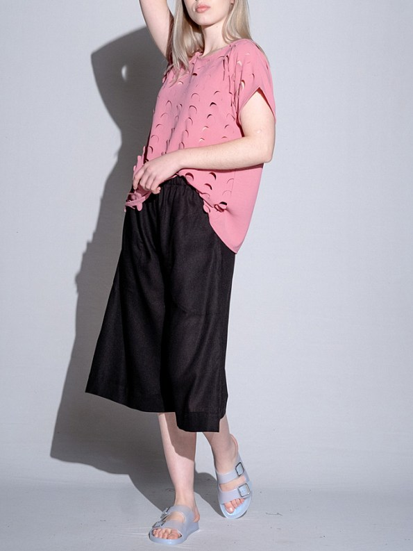 Isabel de Villiers Laser Cut Top Pink Side